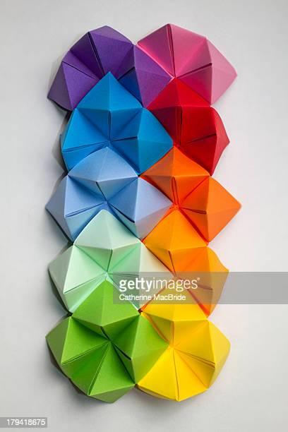 Folded paper rainbow