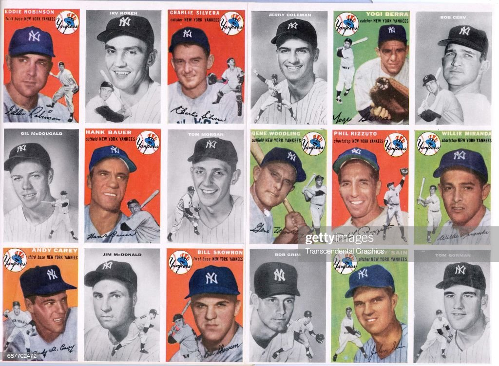 1954 Yankee Baseball Cards : News Photo