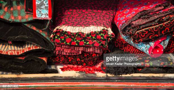 folded traditional clothing, szék, transylvania - traditionally hungarian stock pictures, royalty-free photos & images