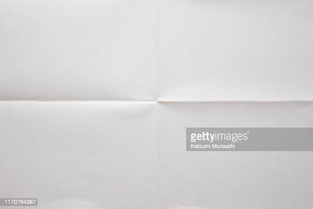 folded white paper background - papel - fotografias e filmes do acervo