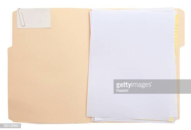 folder & paper (w/path) - file stock pictures, royalty-free photos & images