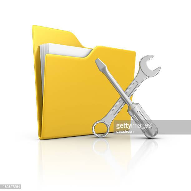 folder and tools