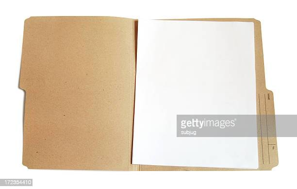 Folder with blank document