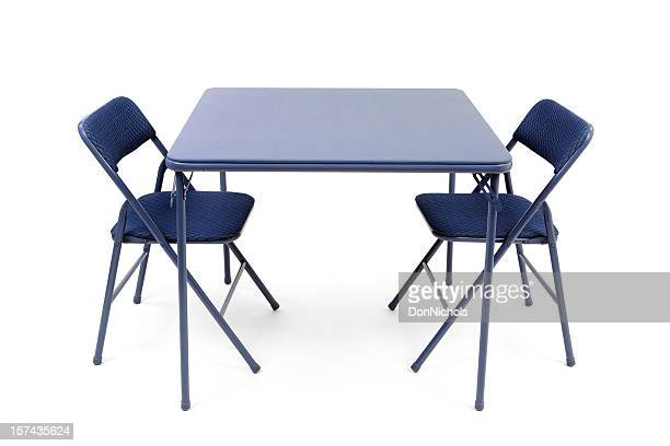 folding card table and chairs - foldable stock pictures, royalty-free photos & images
