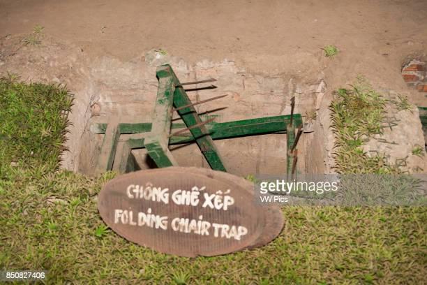 A folding chair booby trap at Ben Dinh Cu Chi near Ho Chi Minh City Vietnam