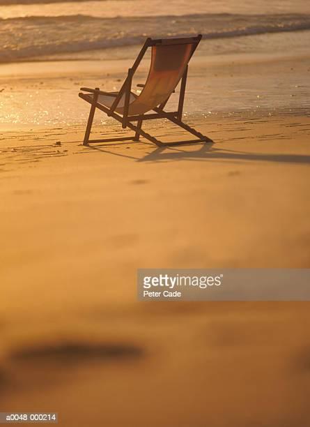 Folding Chair on Beach