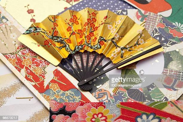 Folding fan and rice papers