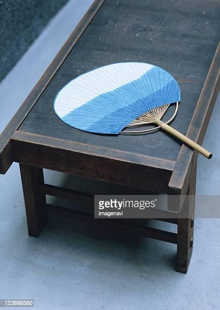 folding Stool and Round Fan