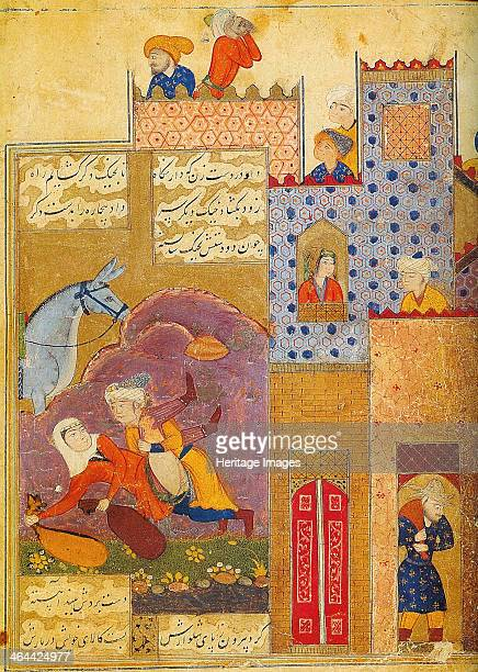 Folio from Silsilat aldhahab by Jami 1587 Jami was one of the last Sufi poets and one of the greatest of all Persian poets Found in the collection of...