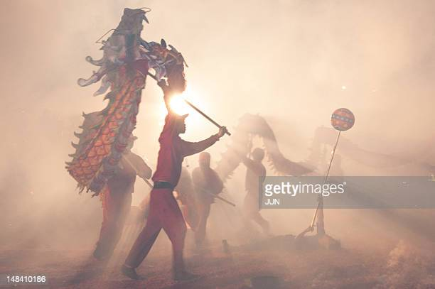 folk custom - chinese dragon stock photos and pictures