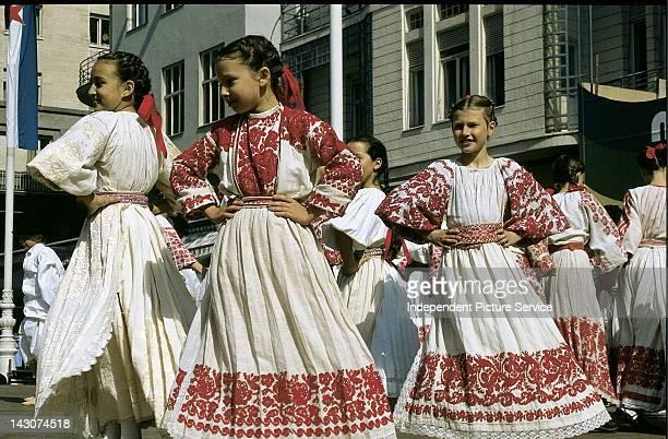 Folk dancers in Zagreb Croatia