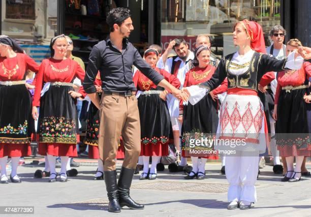 lud taniec w heraklion, grecja - sul europeu - fotografias e filmes do acervo