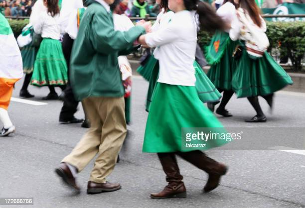 folk dancing - st patricks day stock pictures, royalty-free photos & images