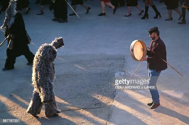 Folk festival with traditional costumes in Monastiraki Attica Greece