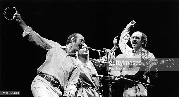 Folk group Peter Paul and Mary perform Chicago Illinois July 31 1983 The group consists of Peter Yarrow Paul Stookey and Mary Travers