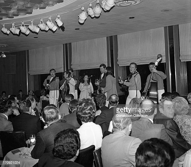 Folk group The New Christy Minstrels perform onstage at the Rainbow Room on December 9 1968 in New York New York