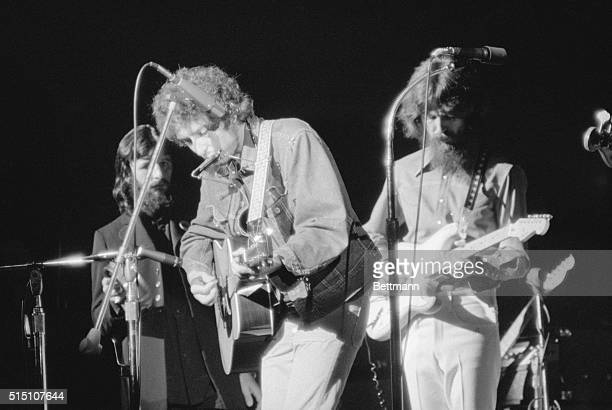 Folk prophet Bob Dylan performs at Madison Square Garden as part of a benefit concert to raise money for East Pakistani civil war refugees Along with...