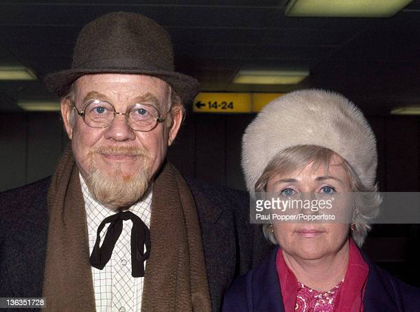 Folk singer and actor Burl Ives and his wife Dorothy Koster at Heathrow Airport near London circa May 1971
