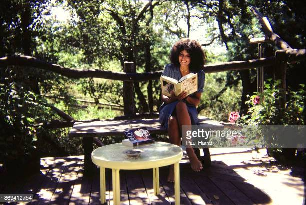 Folk Singer and Political activist Joan Baez in the garden of her home In the past she dated Bob Dylan and Steve Jobs Baez is a resident of Woodside...
