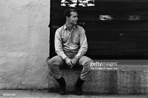 Folk singer and singer songwriter Tom Paxton poses for a portrait in August 1964 in Greenwich Village New York City New York