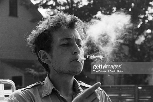 Folk singer Bob Dylan at the Viking Hotel before performing at the Newport Folk Festival in July 1963 in Newport Rhode Island