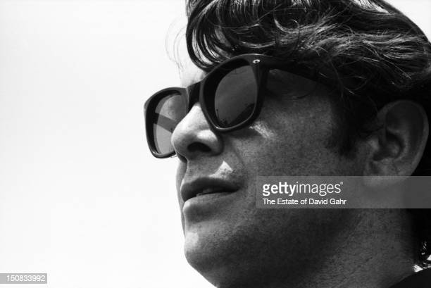Folk singer Bob Gibson poses for a portrait before a performance at the Newport Folk Festival in July 1966 in Newport Rhode Island