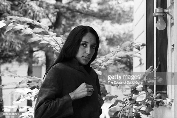 Folk singer Joan Baez in 1963 in Woodstock New York