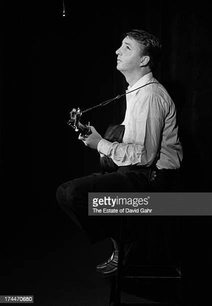 Folk singer Logan Englsih performs in August 1960 in Greenwich Village New York City New York Logan English performed traditional American folk songs...
