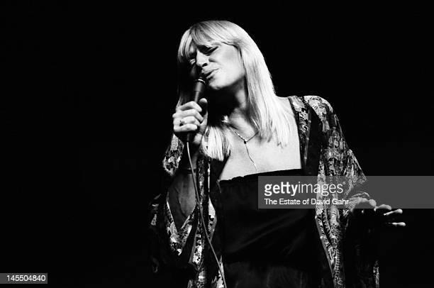 Folk singer Mary Travers performs at the Philadelphia Folk Festival in August 1980 in Schwenksville Pennsylvania