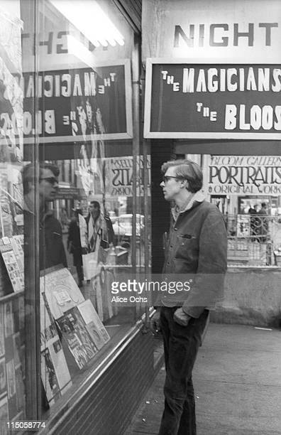 Folk singer Tom Rush on the street outside the Night Owl Cafe in Greenwich Village in 1966 in New York City New York