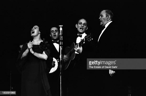 Folk singing group The Weavers perform in April 1960 at Carnegie Hall in New York City New York