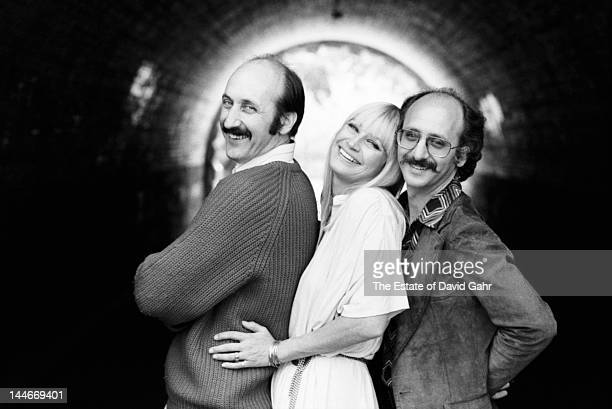 Folk trio Peter Paul and Mary pose for a portrait on May 11 1978 in New York City New York