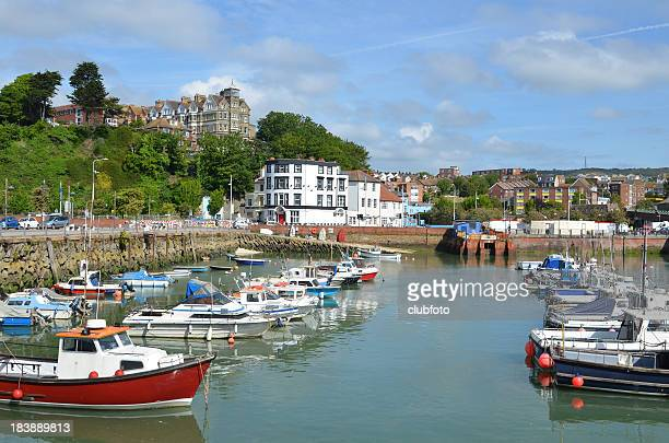 folkestone harbour, kent, uk - folkestone stock pictures, royalty-free photos & images
