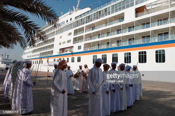 Folklore welcome for cruise ship MS Europa
