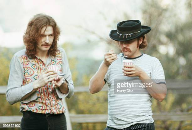 Folkrock singer David Crosby relaxes with legendary guitarist Eric Clapton Crosby became wellknown in the Byrds then moved on to Crosby Stills and...
