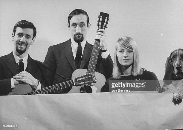 Folksinging group called Peter Paul and Mary with Peter Yarrow Paul Stookey and Mary Travers