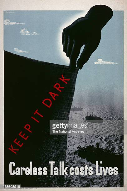 Follow His Example Careless Talk Costs Lives campaign WWII poster