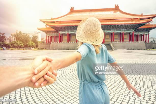 Volg mij concept - Aziatische tempels