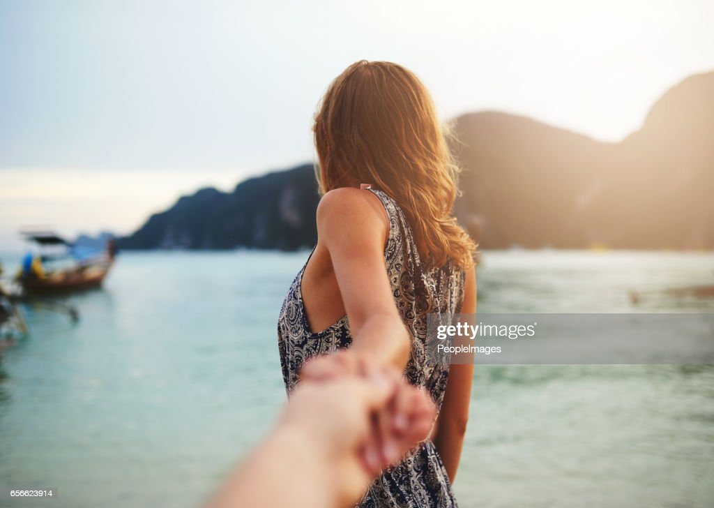 Follow me to paradise : Foto de stock