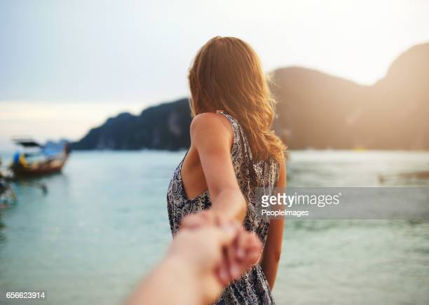 follow me to paradise - following stock pictures, royalty-free photos & images
