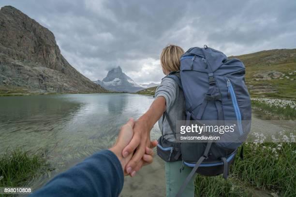 スイス - ツェルマット マッターホルンに私に従ってください。