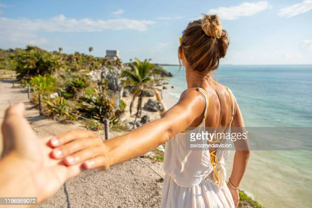 follow me to tulum - following stock pictures, royalty-free photos & images