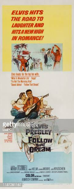 Follow That Dream poster US poster art from left Anne Helm Elvis Presley 1962