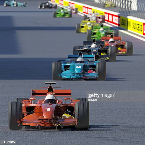 follow the leader - grand prix motor racing stock pictures, royalty-free photos & images