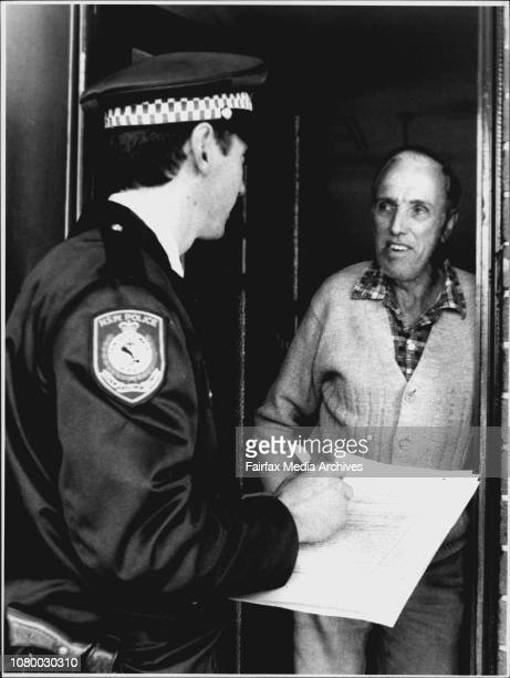 Follow up of shooting at Kingsgrove.Mr. Robert Young, local resident of Proctor Street questioned by Const. Peter Seary. June 12, 1990. .