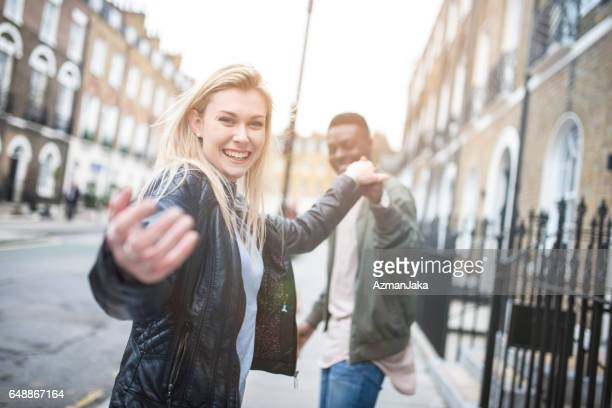 follow us! - waving gesture stock photos and pictures