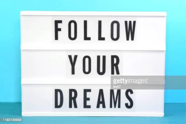 follow your dreams - 後に続く ストックフォトと画像