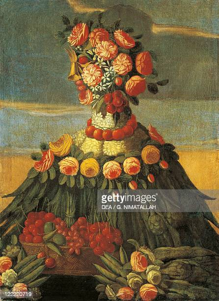 Follower of Giuseppe Arcimboldo 16th century The Spring