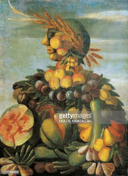 Follower of Giuseppe Arcimboldo 16th century The Summer
