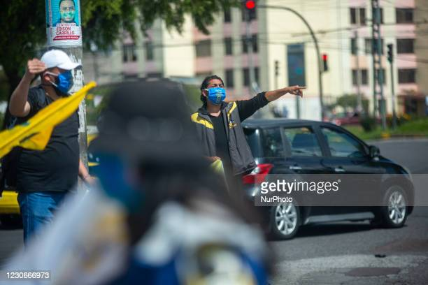 Followers and militants of the Avanza list 8 movement in which Isidro Romero Carbo is the presidential candidate, took to the streets with flags and...